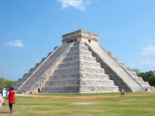 El Castillo, aka the Temple of Kukulcan, Chichen Itza, Yucatan, Mexico.