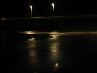 reflections at the pier at the boardwalk