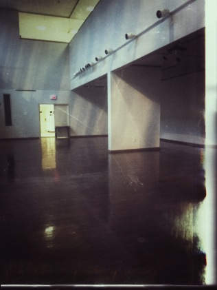 The empty art gallery at the end of my last semester