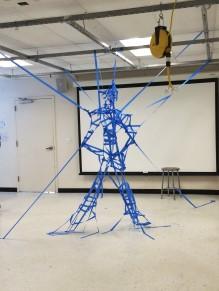 fun tape sculpture made in class